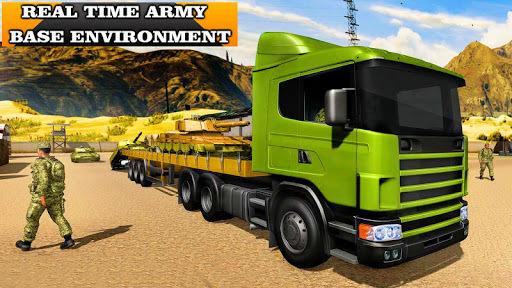 Army Truck Driving 3D Simulator Offroad Cargo Duty APK screenshot 1