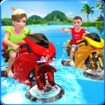 Kids Water Surfing Bike Racing icon