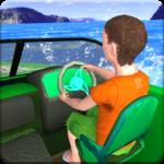 Kids Water Taxi Boat Ride Simulator : Stunts Arena icon