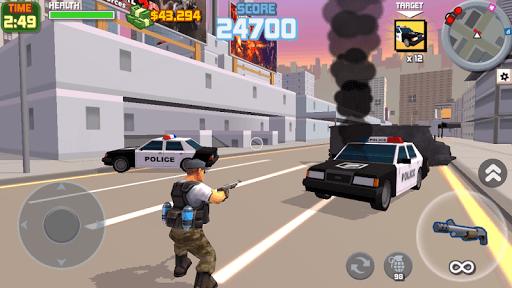 Grand Gangster City: Pixel 3D Gun Crime Game APK screenshot 1