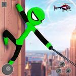 Flying Hero Stickman Rope Hero Grand Crime City icon
