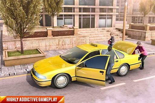 Drive Mountain City Taxi Car: Hill Taxi Car Games pc screenshot 1