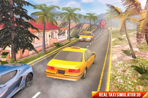 Drive Mountain City Taxi Car: Hill Taxi Car Games pc screenshot 2