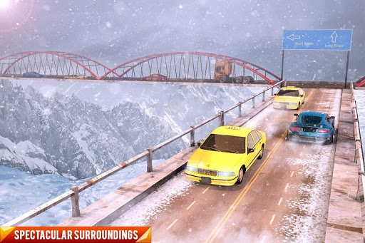 Drive Mountain City Taxi Car: Hill Taxi Car Games APK screenshot 1