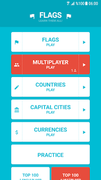 Flags and Capitals of the World Quiz APK screenshot 1