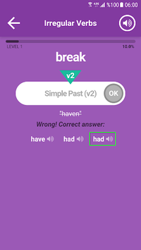 English Irregular Verbs APK screenshot 1