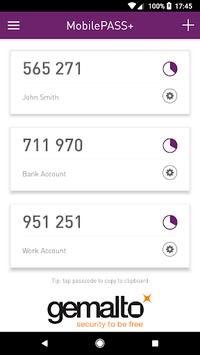 SafeNet MobilePASS+ APK screenshot 1