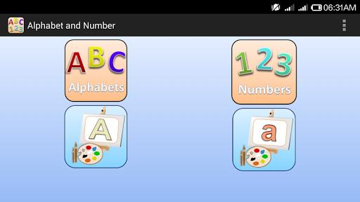Alphabet & Number for Nursery APK screenshot 1