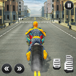 Moto Spider Traffic Hero: Motor Bike Racing Games icon