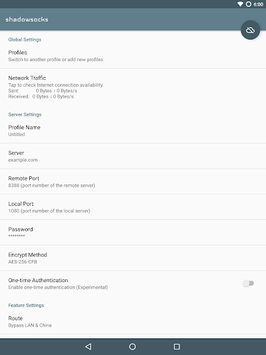 Shadowsocks APK screenshot 1