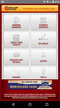 Maryland Lottery Official App APK screenshot 1
