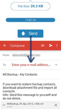 MCBackup - My Contacts Backup APK screenshot 1