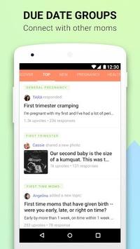 Pregnancy App & Baby Bump Tracker - Glow Nurture APK screenshot 1