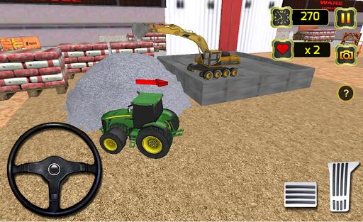 Concrete Excavator Tractor Sim APK screenshot 1