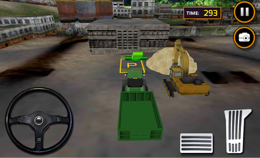 Tractor Sand Excavator Operate APK screenshot 1