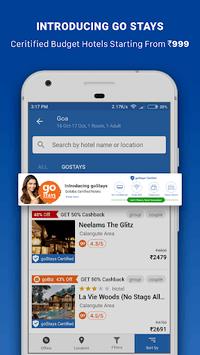 Goibibo - Flight Hotel Bus Car IRCTC Booking App APK screenshot 1