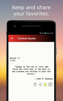 Criminal Quotes APK screenshot 1