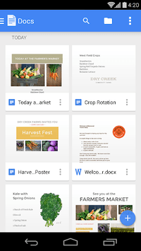 Google Docs APK screenshot 1
