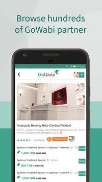 GoWabi - Discounted Spa & Beauty Booking App APK screenshot 1