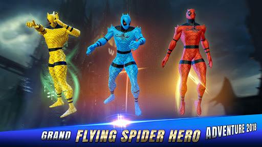 Flying Spider Hero Adventure Fight 2018 APK screenshot 1