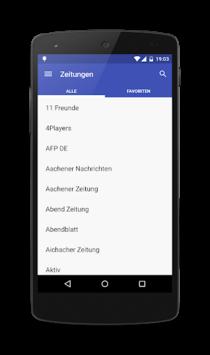 Deutsche Zeitungen APK screenshot 1