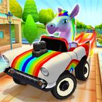 Pony Craft Unicorn Car Racing - Pony Care Girls icon