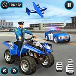 US Police ATV Quad Bike Plane Transport Game icon