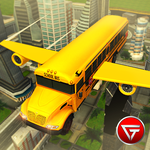 Flying School Bus Simulator 3D icon