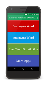 Synonyms, Antonyms & One Word Substitution APK screenshot 1
