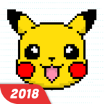 Happy Cartoon Pixel Book - Pixel Art Coloring FOR PC