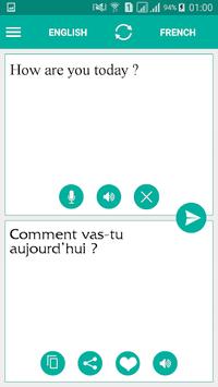 French English Translator APK screenshot 1