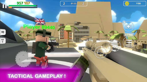 Block Gun: Gun Shooting - Online FPS War Game APK screenshot 1