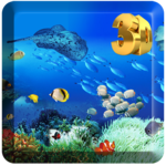 3D Seabed World Live Wallpaper Transparent Screen icon