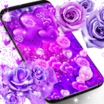 Purple rose love live wallpaper icon