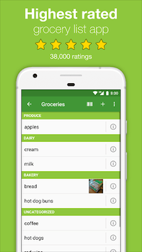 Our Groceries Shopping List APK screenshot 1