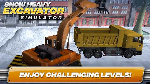 Snow Heavy Excavator Simulator APK screenshot 1