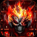 Horror skull Keyboard Theme Fire Skull icon