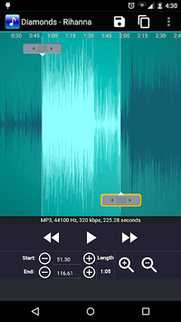 MP3 Cutter and Ringtone Maker APK screenshot 1