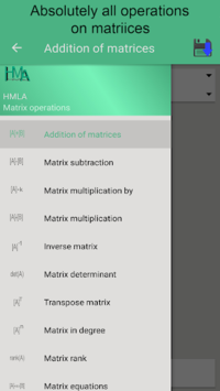 Matrix operations APK screenshot 1