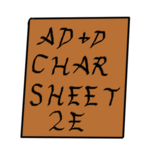 AD&D 2e Character Sheet icon