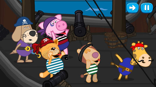 Hippo's tales: Pirate games APK screenshot 1