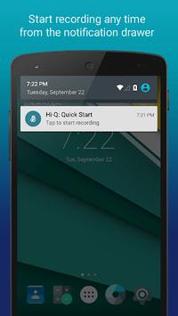 Hi-Q MP3 Voice Recorder (Free) APK screenshot 1