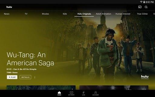Hulu for Android TV APK screenshot 1