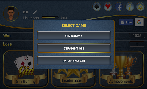 Gin Rummy APK screenshot 1