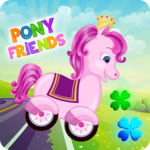Pony Friends 🦄 - Beepzz racing game for kids APK icon