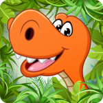 Kids puzzle for preschool education - Dinosaur icon
