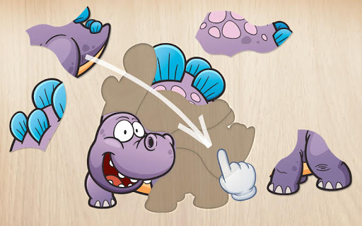 Kids puzzle for preschool education - Dinosaur APK screenshot 1