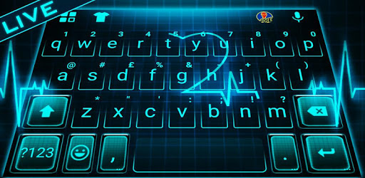 Animated Neon Heart Keyboard Theme pc screenshot
