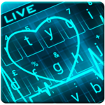 Animated Neon Heart Keyboard Theme for pc icon