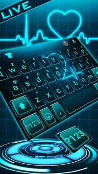 Animated Neon Heart Keyboard Theme APK screenshot 1